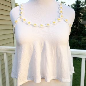 Poof Daisy Festival Crop Top Tank